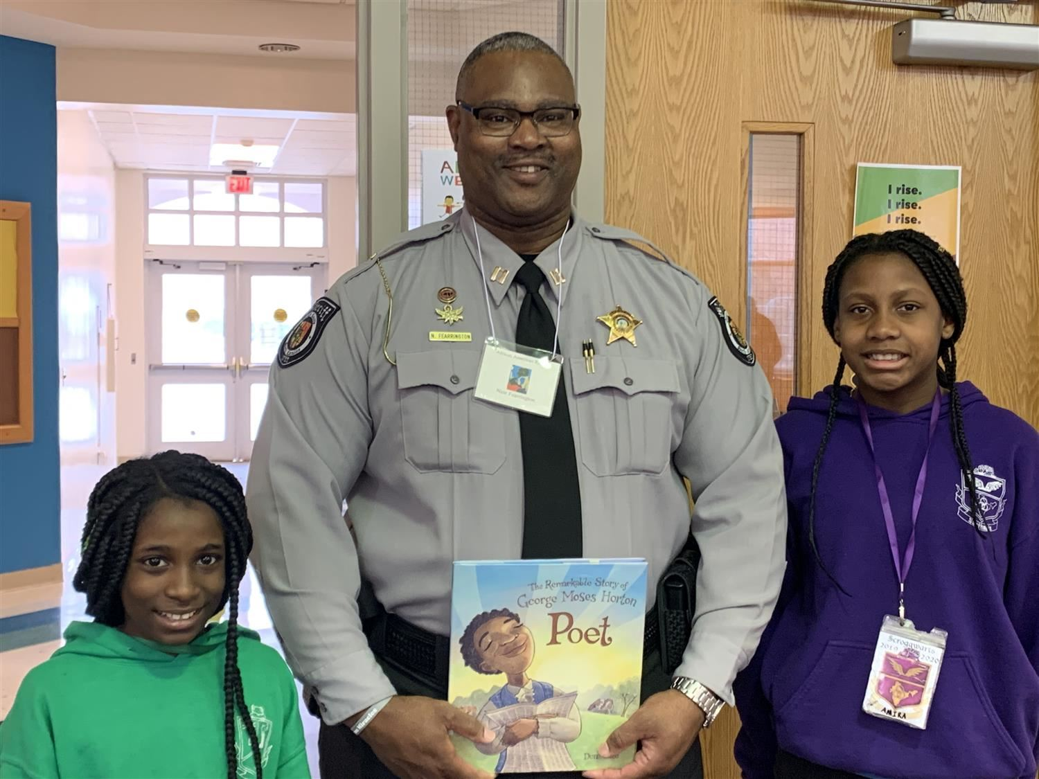 sheriff Fearrington at MSES read in